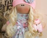 Кукла кудрявая блондинка