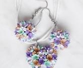 Кулон сердце и Серьги Цветы