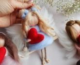 Мини куколка Валентинка