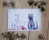 Новогодняя открытка Cats