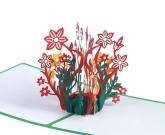 Открытка 3d цветы внутри