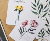 Открытка цветы Подсолнух