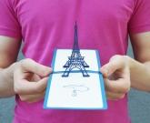 Открытка Париж 3d