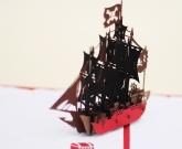 Открытка Пиратский корабль