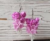 Серьги pink Flowers