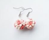 Серьги Pink roses