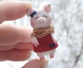 Свинья магнит Girl