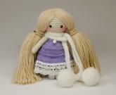Вязаная кукла Фиалочка