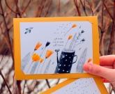 Хендмейд открытка Квіти