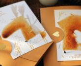 Хендмейд открытка Обійми