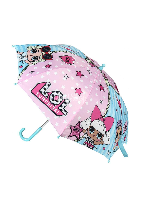 Зонт трость детский с куклами LOL Disney