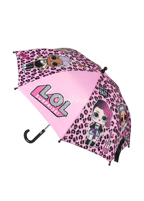 Зонт трость с куклами LOL для девочки