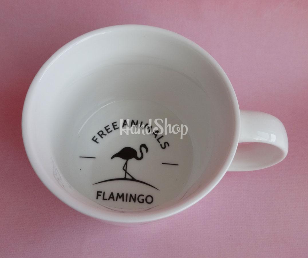 Чашка розовый Фламинго 300 мл