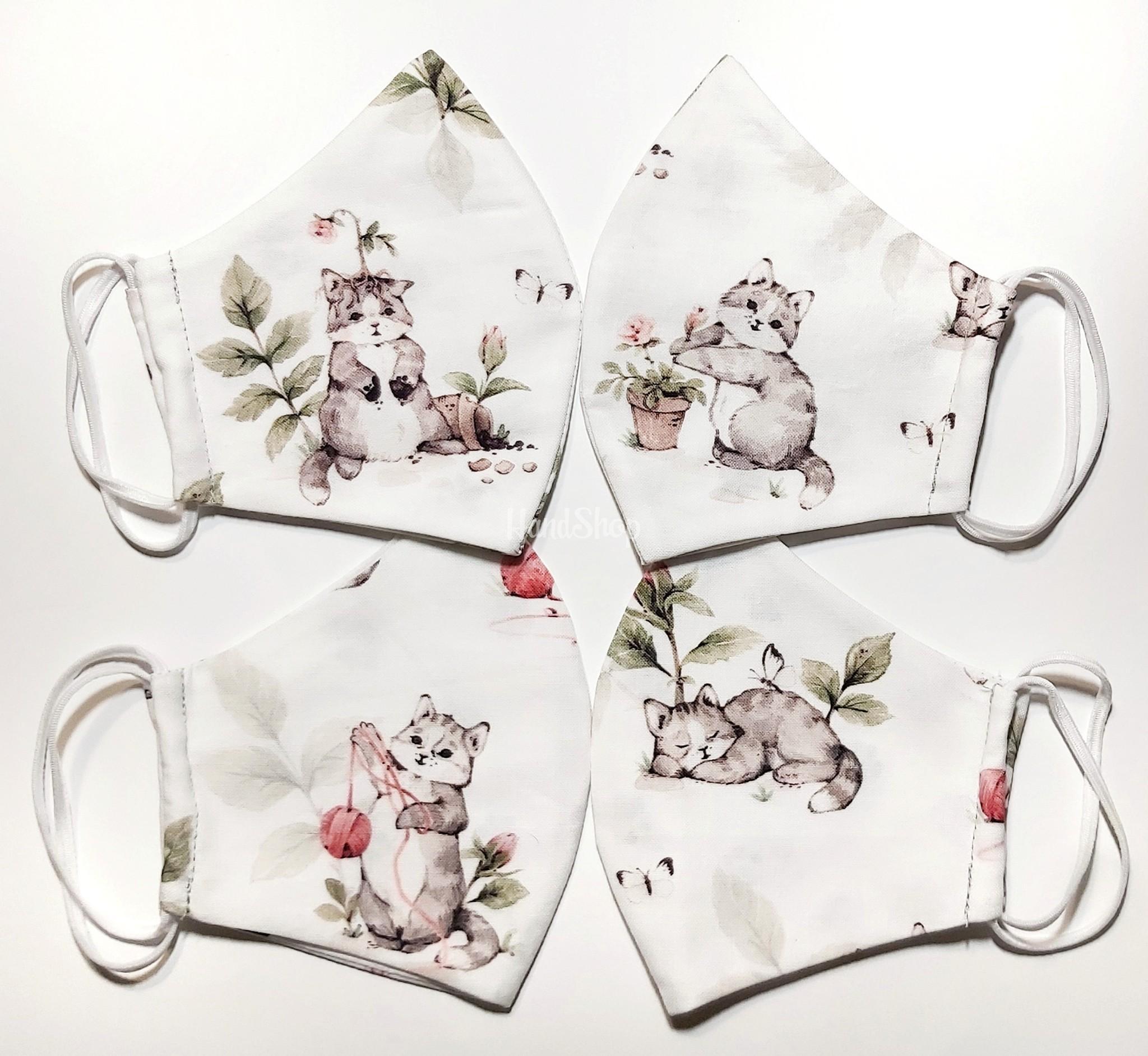 Защитная маска для девочки кошечка