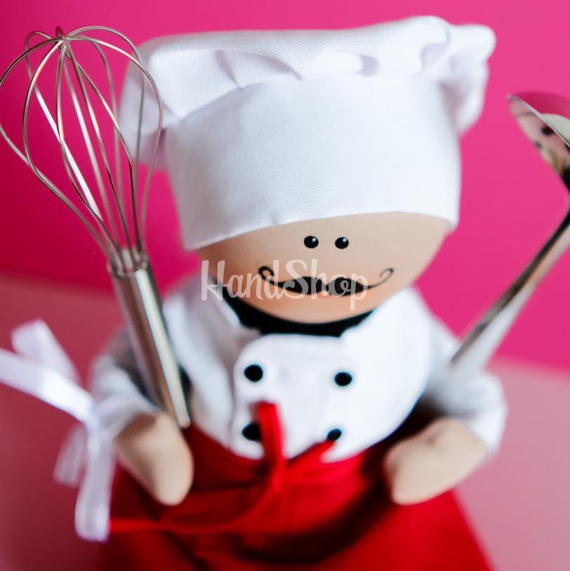 Интерьерная кукла повар
