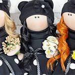 Интерьерная кукла in Black