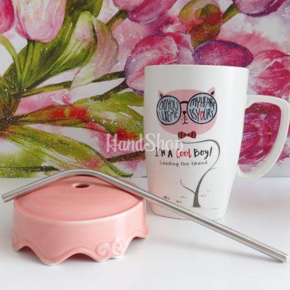 Чашка керамика большая с котом