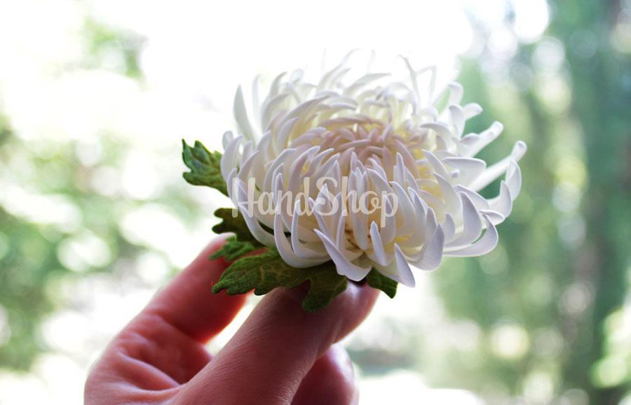 Резинка для волос цветок хризантема