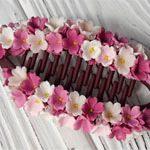 Заколка из глины Flowers