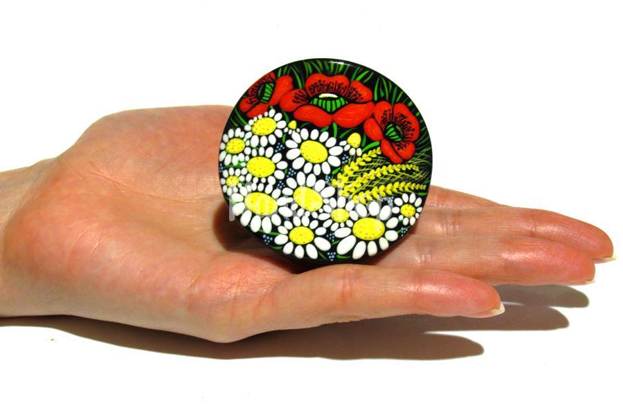Резинка для волос круглой формы полевые цветы