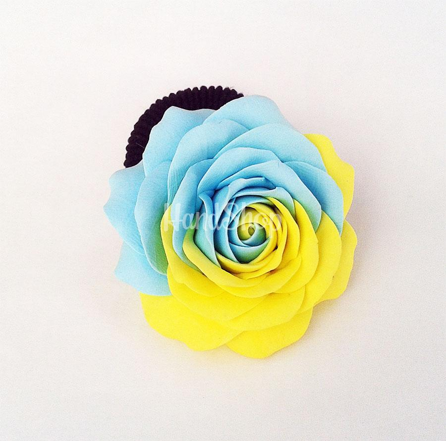 Pезинка для волос роза