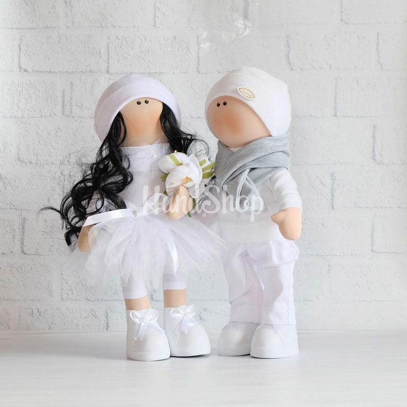 Куклы свадебные молодожены авторские пара