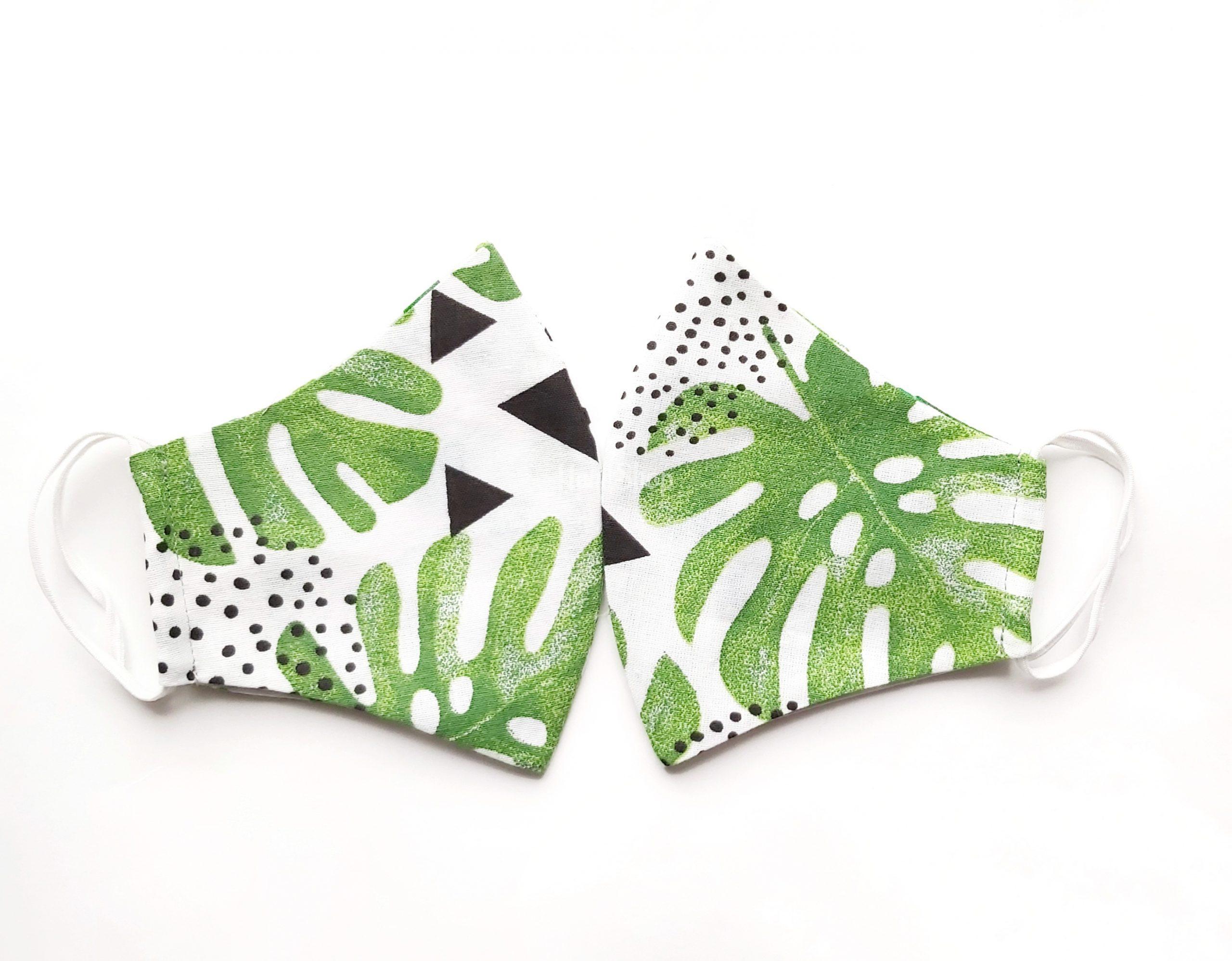 Маски натуральной ткани с летним принтом