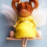 Кукла из шерсти Ангел