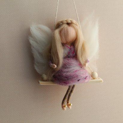 Сувенир подвеска кукла Блондинка
