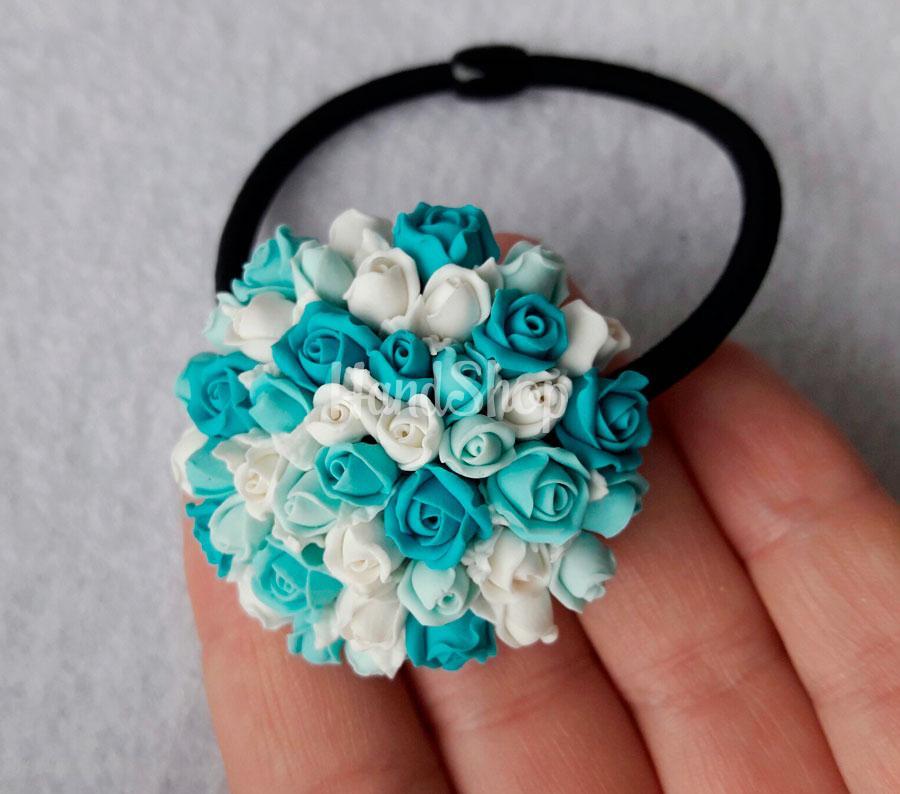 Резинка для волос цветочки розы