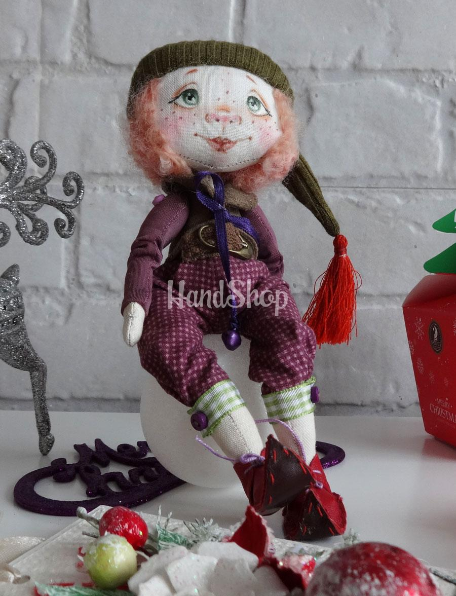 Авторская текстильная кукла гном ручной работы