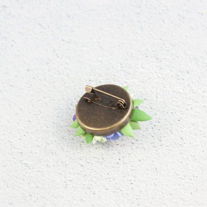 Брошь из глины цветы анемоны