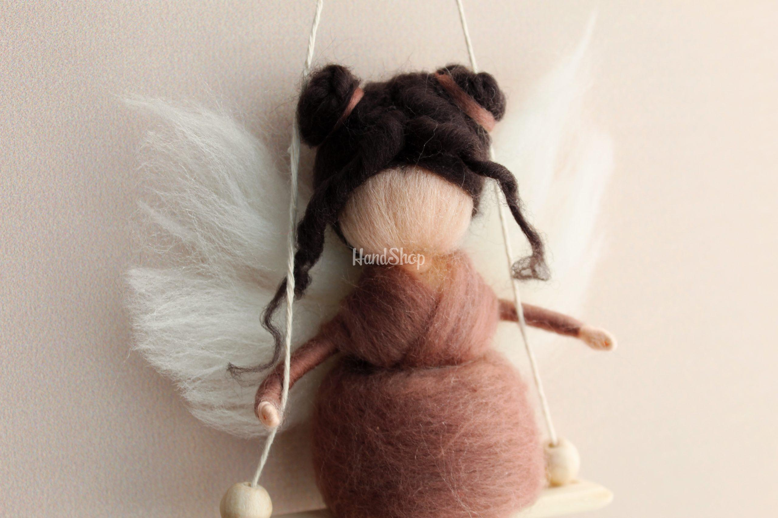 Детская мини кукла на качели Балерина