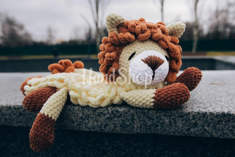 Авторская пижамница лев крючком