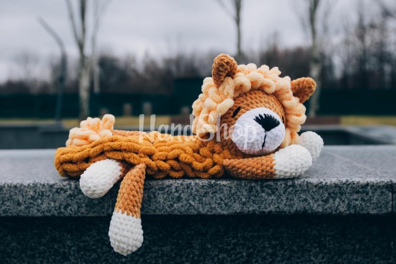 Пижамница лев крючком большой на резинке