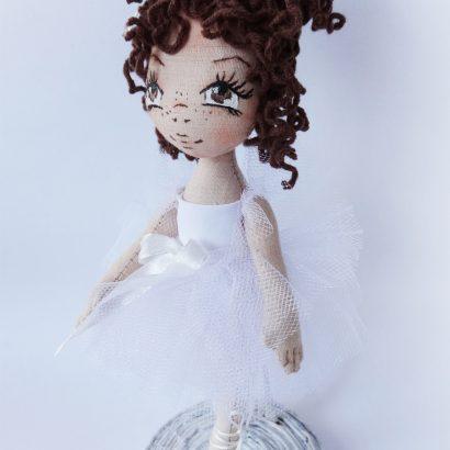 Кукла на подставке авторская балерина