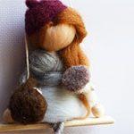 Кукла из шерсти Осенняя