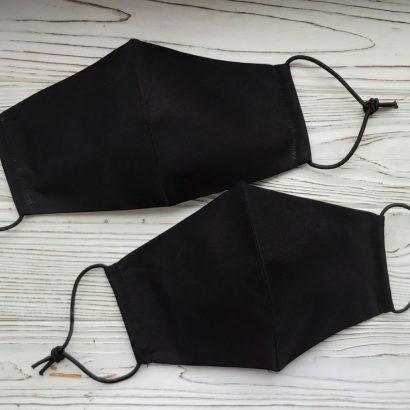 Защитная маска черная мужская 100% хлопок