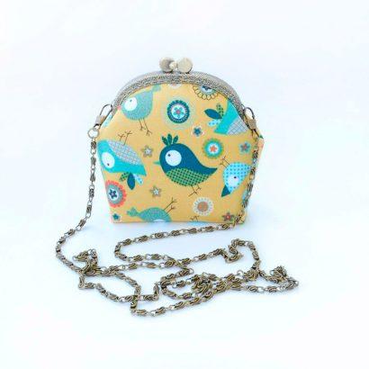 Мини сумочка детская с принтом птички