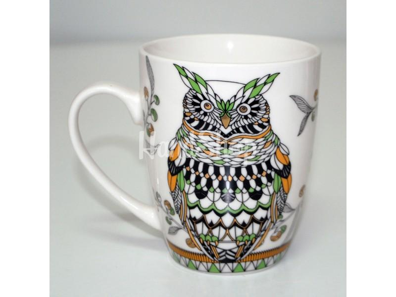 Подарочная чашка керамика 350 мл Сова