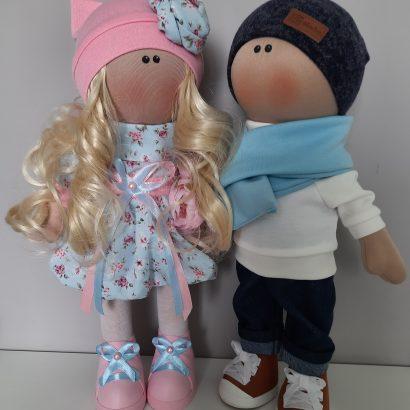 Куклы тильда свадебная пара