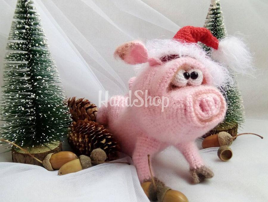 Игрушка мягкая свинка розовая