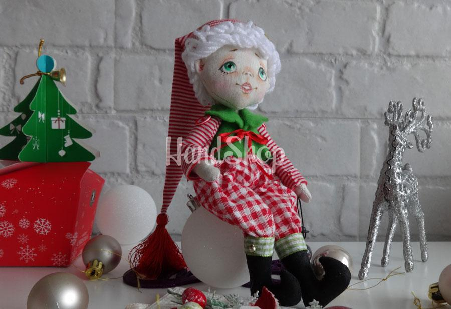 Авторская текстильная кукла эльф гном