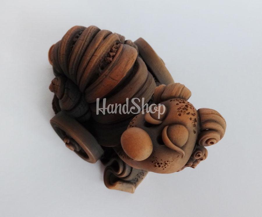 Сувенир керамика ручная лепка улитка