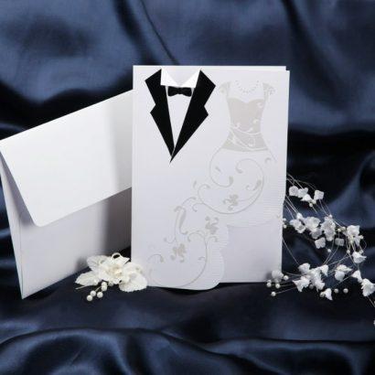 Красивая свадебная открытка свадебное платье
