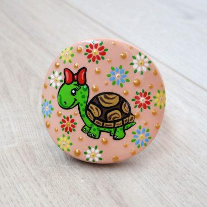 Круглая резинка для волос черепаха