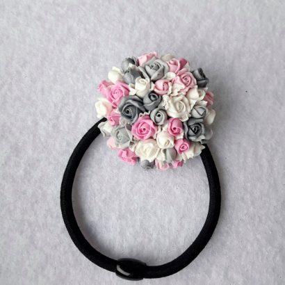 Pезинка для волос своими руками роза
