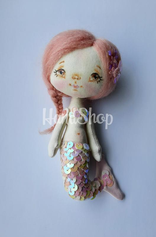 Мини куколка своими руками русалка