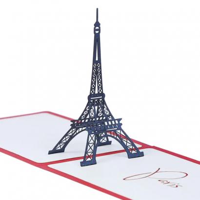 Открытка 3d своими руками Париж
