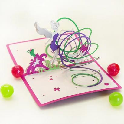 Детская объемная открытка с феей